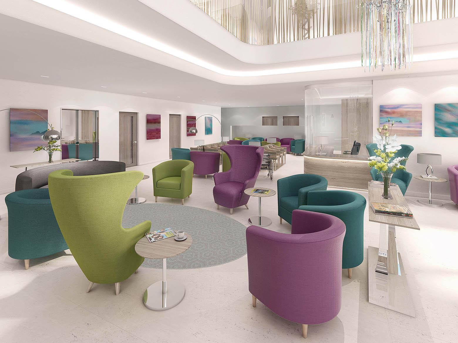 New Victoria hospital waiting room