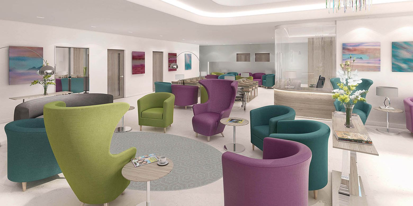 New Victoria hospital waiting room